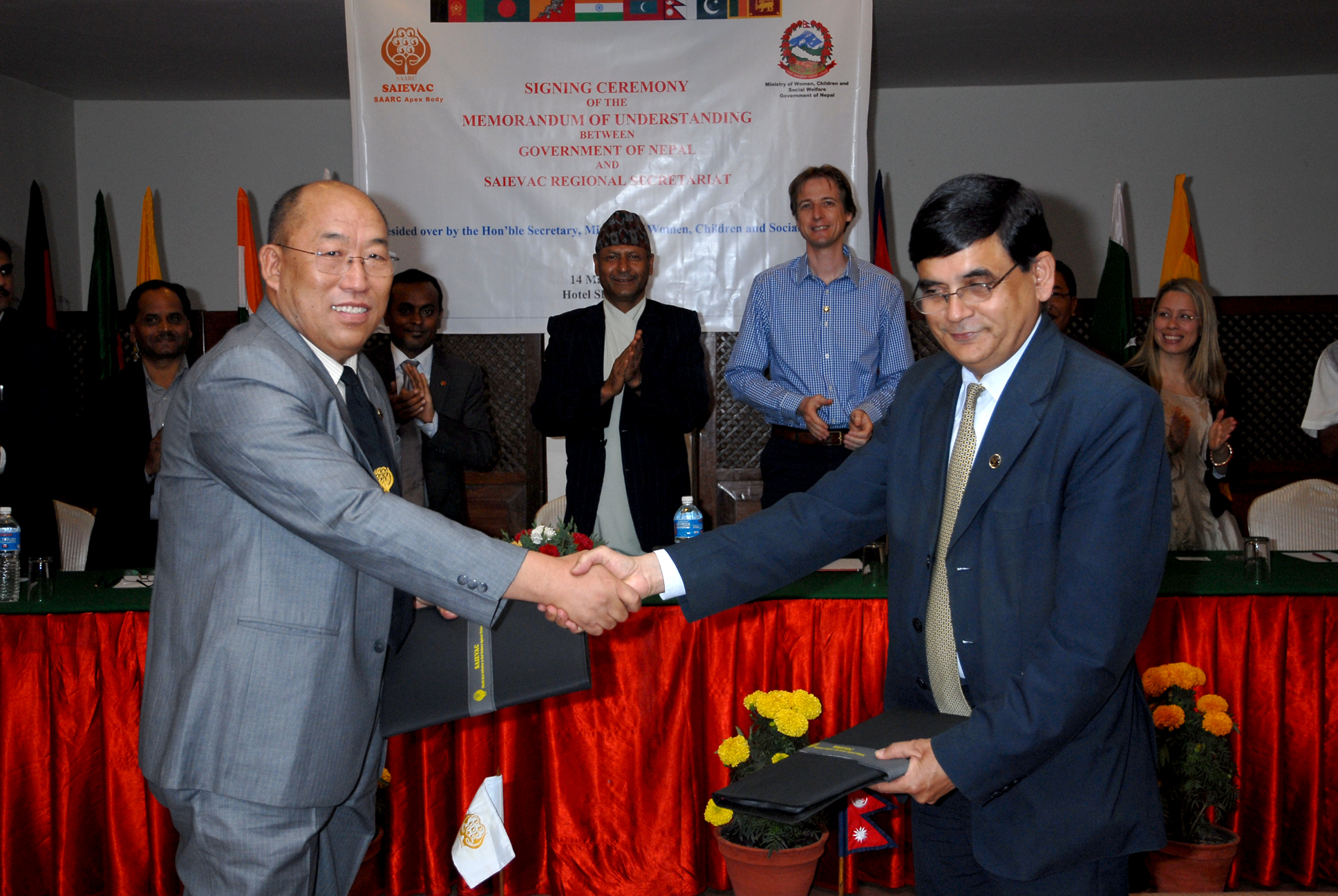 MOU Signing Between the Government of Nepal and SAIEVAC Regional Secretariat