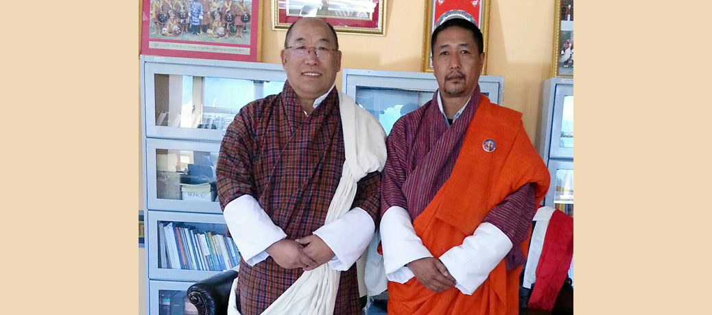 The Director General calls on the new Chief Justice of Bhutan, His Lordship Justice (Lyonpo) Tshering Wangchuk on the 14 January at the Supreme Court of Bhutan