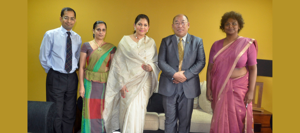 Meeting with H.E Rosy Senanayake, Hon'ble Minister, State Ministry of Child Affairs